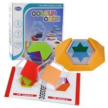 Juego de mesa de lógica para niños, rompecabezas de código de Color, Tangram, desarrollo de habilidades de lógica espacial, 100