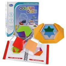 Logic spiel brettspiel 100 Herausforderung Farbe Code Puzzle Spiele Tangram Puzzle Spielzeug für Kinder Entwickeln Räumliche Argumentation Fähigkeiten