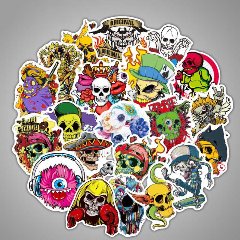 Adesivos dos desenhos animados computador portátil skate etiqueta de bagagem brinquedos do miúdo dragão bola crânio graffiti adesivos pacote brinquedos para crianças 50 pçs/lote