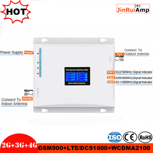 Image 2 - Mobile Booster Triband Signal Amplifier 900 1800 2100 GSM Repeater Tri Band with ALC/MGC Cell Phone Signal Repeater Booster