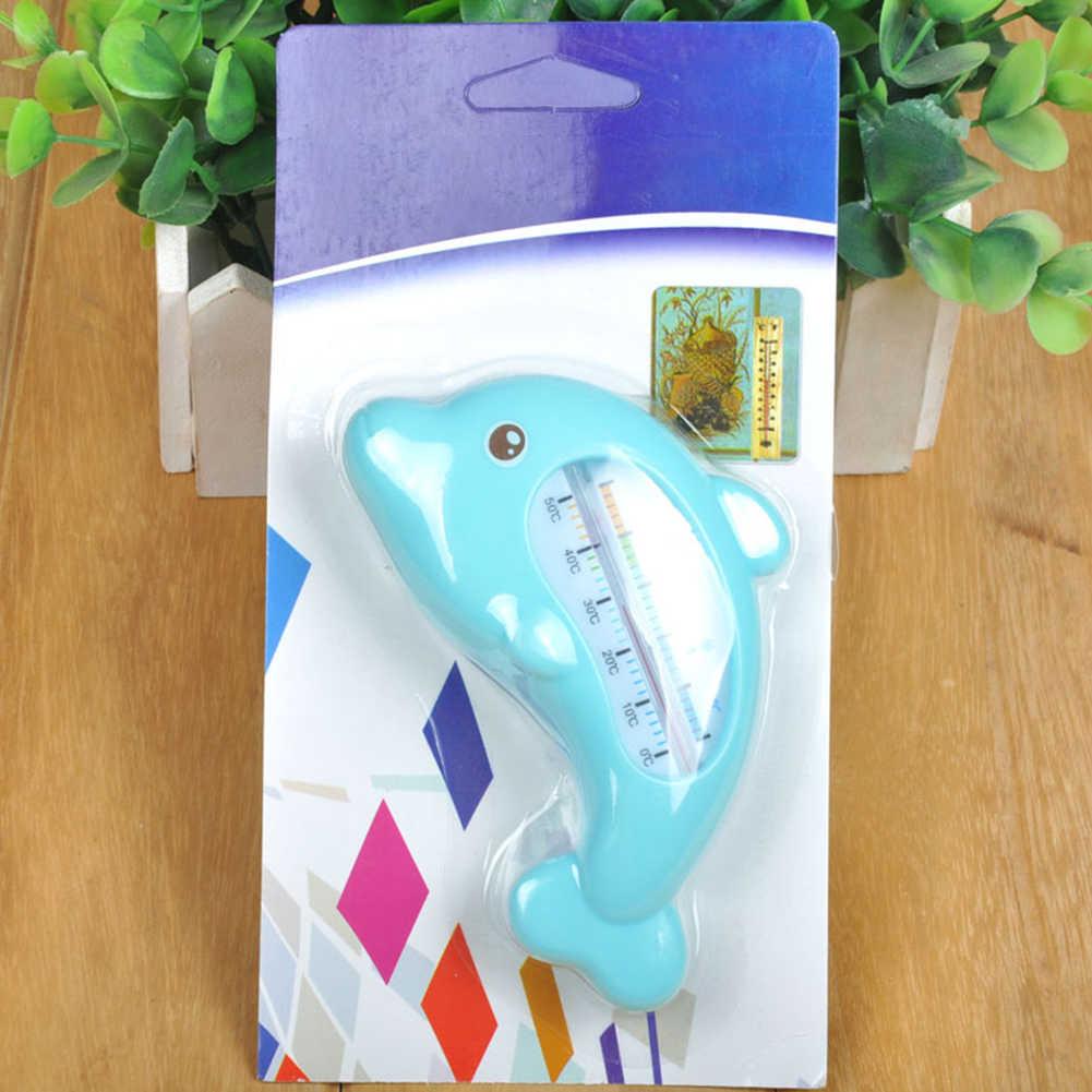 ABS دولفين على شكل رعاية الطفل عملية سهلة الملحقات مقياس حرارة الماء ملابس السباحة الرضع اختبار داخلي دش درجة الحرارة المصغرة