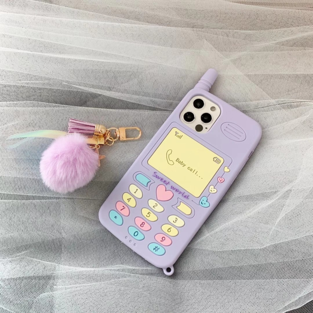 Cute 3D Phone Keys Pattern For Iphone 12Mini 12Promax X Xs Xr Xsmax 7 8 7Plus 11Promax Silicone Soft Shell With Pendant