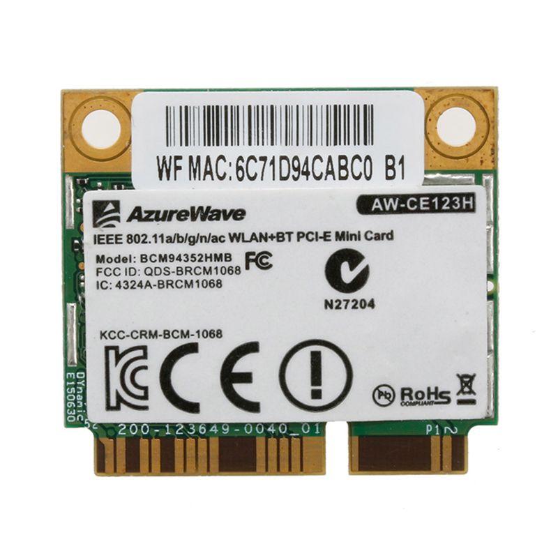 BCM94352HMB AW-CE123H 802.11ac 867Mbps 2.4/5G Bluetooth 4.0 WiFi Wireless Card