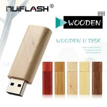Heißer Verkauf Rechteck Holz Rot holz U Disk USB 2,0-Stick Lehrer Geschenk 32GB 64 4 16 8 256 gb Mini Memory Stick Pen drive