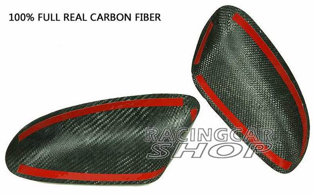REAL CARBON FIBER WING MIRROR COVER 1pair For MAZDA RX-8 RX8 R3 SE3P 13B MAZDASPEED 03-11 T045M 4
