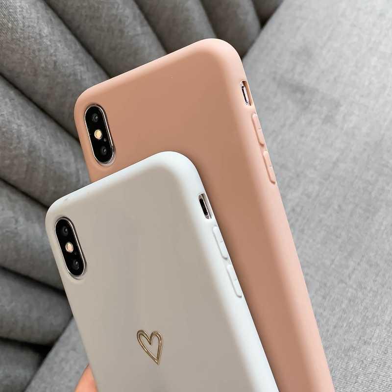 สำหรับiPhone 6 6 S 7 8 PLUS X XR XS MAX iPhone 11 PRO MAX ULTRA-บางนุ่มรูปหัวใจรูปแบบซิลิโคนป้องกันกรณี