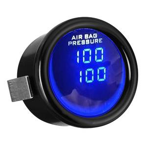 "Image 3 - 2 ""52Mm 12V 0 20 Bar Blauwe Led Luchtdrukmeter Bar Dual Digitale Display Lucht rit Meter + Sensor"