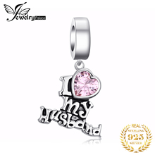 JewelryPalace 925 Sterling Silver I love my husband Beads Charms Silver 925 Original Fit Bracelet Silver 925 original Jewelry цена