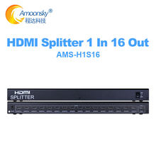 4K 1*16 HDMI1.4 Splitter 1 IN 16 Out 1x16 Splitter HDMI1.4 Video Converter 1080P for PS4 PS3 PC DVD TV Projector LED LCD Display