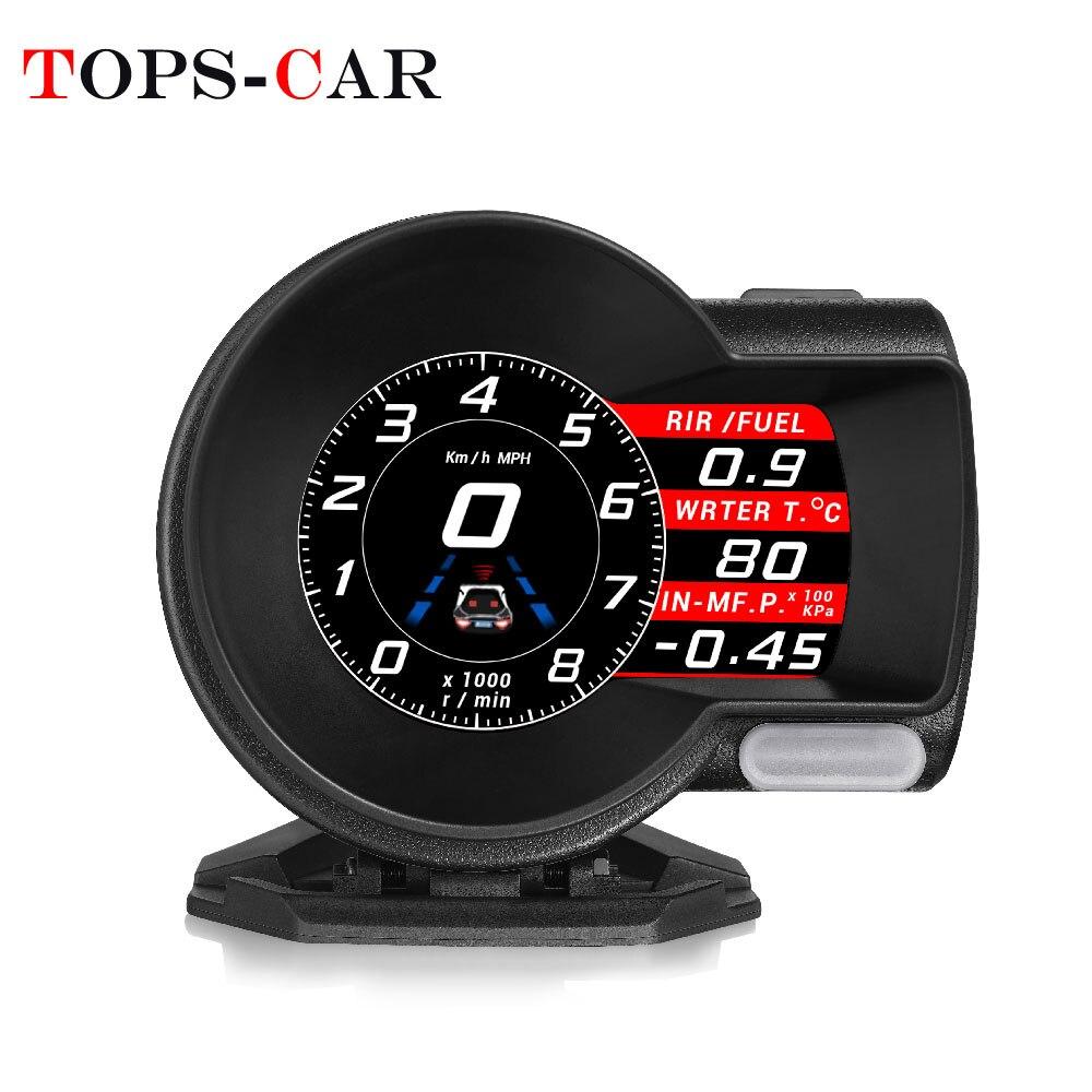 OBD instrumento vehículo multifuncional cabeza arriba velocidad de visualización, temperatura del agua velocidad Digital del vehículo