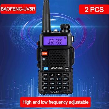 2pcs Baofeng UV-5R Walkie Talkie long range 10km VHF/UHF dual Band Two Way Radio pofung uv5r radio communicator walkie-talkies