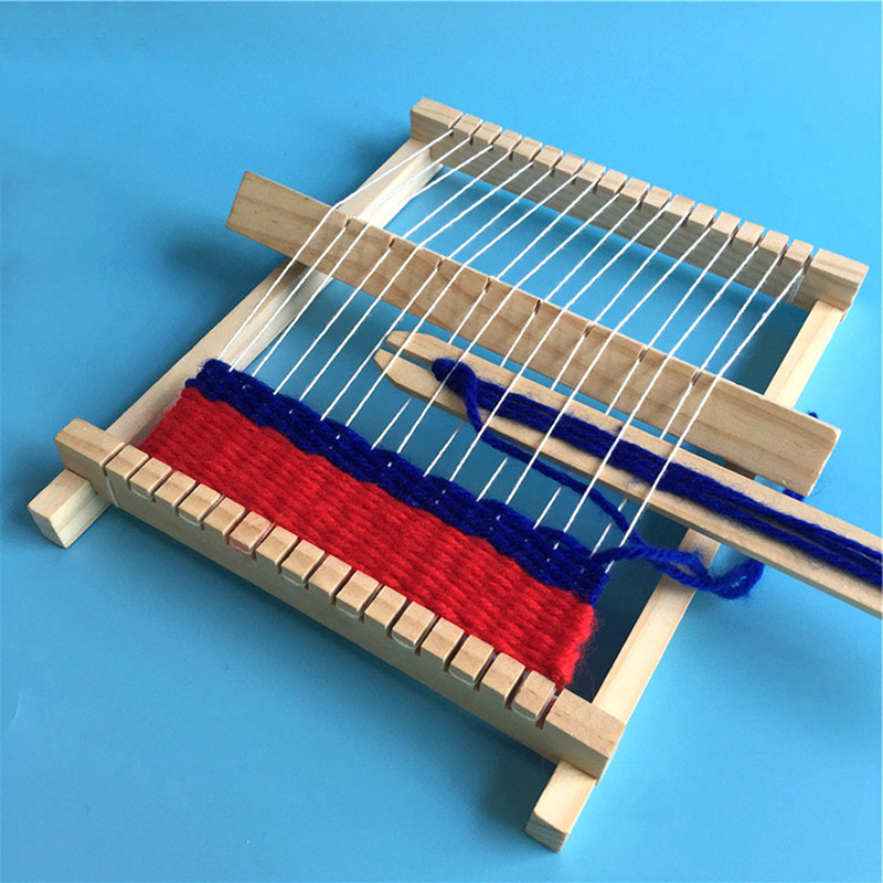 Traditional Wooden Weaving Loom Craft Yarn DIY Hand Knitting Machine Kids Educational Toy Gifts