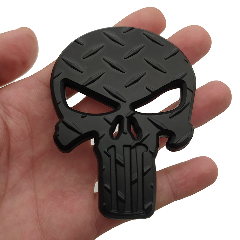 3D Metal The for Punisher Skull Skeleton Car Motorcycle Body Emblem Badge Fashion Decoration Automobile Styling Car accessories