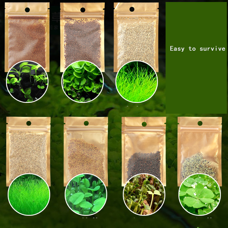 7 Styles Aquarium Plants Aquatic Water Grass 20g Seeds Cow-hair LOVE Lucky Seeds Fish Tank Plants Decoration Landscape Ornament