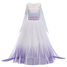 Snow Queen 2 Cosplay Elsa Anna Girls Dress Summer Casual Mesh Princess Dress Party Performance Costume 4-12 Years Kids Dresses