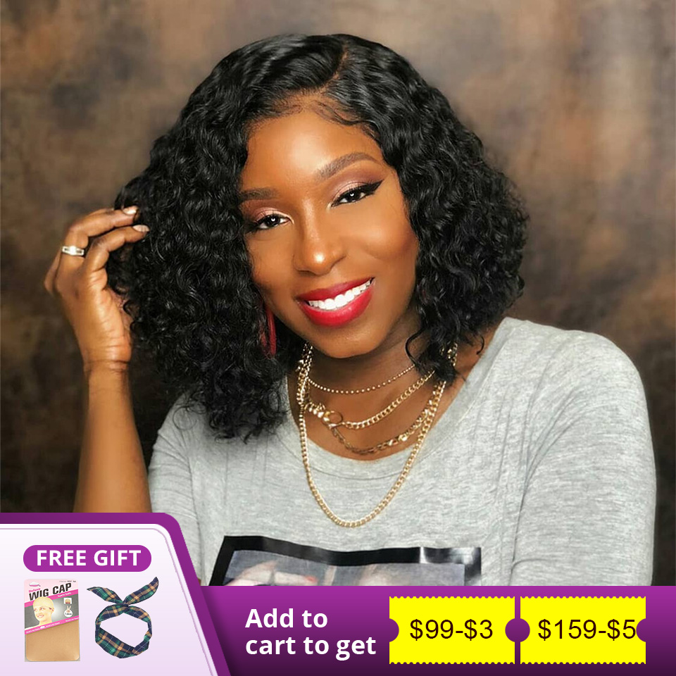 Human Hair Curly Bob Lace Front Wigs 360 Lace Front Wigs Curly Lace Front Human Hair Wigs Curly Human Hair Wig For Women