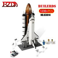 BZDA 1230 Pcs Shuttle Expedition Model Building Blocks Space Exploration Plane Rocket Technic Bricks Compatible 10231 Toys