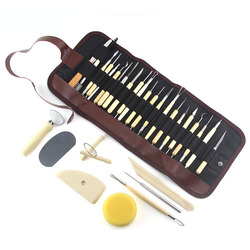 Pottery Tools Clay Sculpture Sculpting Ceramic Modelling Craft Hobby Supplies Carving Trimming Tool Kit 31pcs/set