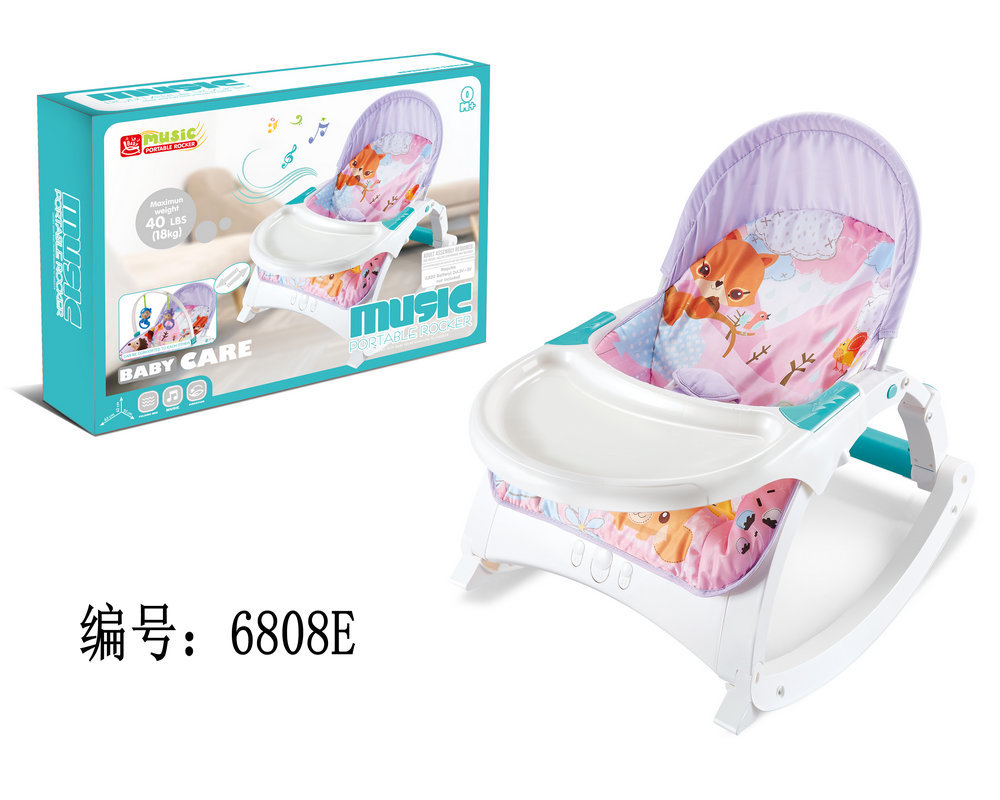 Hcc19d78d73544f40bb7c59a78202d27ay Newborn Multifunctional  foldable Electric baby rocking chair with toy music soothing and comfortable shaking baby chair