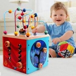 Kinderen Kraal rijgen Speelgoed Kralen Armband Schat Borst 6-12 Maand Zuigelingen Educatief Speelgoed Jongen Baby Meisjes 0 -1-2-3 EEN Jaar van EEN