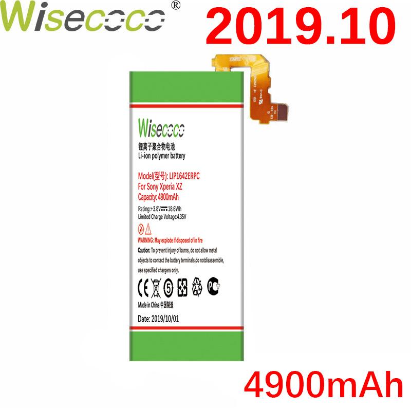 WISECOCO 4900mAh LIP1642ERPC <font><b>Battery</b></font> For SONY <font><b>Xperia</b></font> <font><b>XZ</b></font> Premium XZP G8142 G8141 Latest Production High quality+Tracking Number image