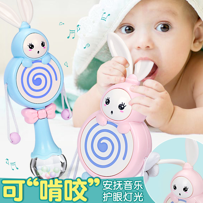Infant Rattle Toy 0-1-Year-Old Boy-Bite Music Hand Rattle Baby 3-6-12 Month Women's 5