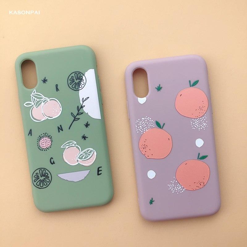 Fashion Summer Peach Avocado Fruits Soft TPU Phone Case For IPhone X XS Max XR 7 8 6 S 6S Plus Cartoon Cute Dinosaur Cover Case