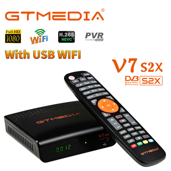 s2x s2 t2 hd satellite tv receiver hd 168 plus dvb s2 s2x dvb t t2 c combo with free cccam 7 clines h 265 set top box NEW GTMEDIA V7 S2X Satellite Receiver DVB-S/S2/S2X Support HD H.265 Support multi-stream Online Movie Youtube Youporn PK V7S HD
