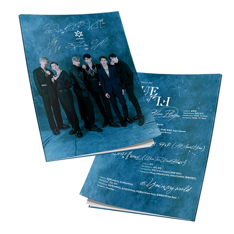 Astro Blue Flame HD Photograph EunWoo Mini Album Yuna Kim Myoung Joon Mini Photo Book Pictures Poster Fan Gift