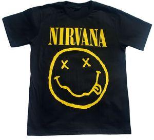 Футболка с короткими рукавами, Nirvana, размер 2X-LARGE, футболка, музыка, лицо