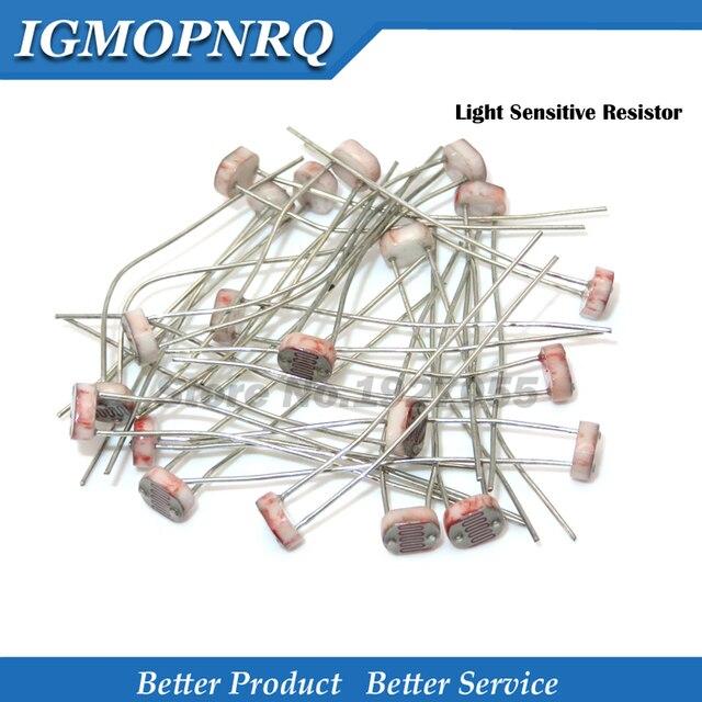 50PCS GL5528 GL5516 GL5537 GL5549 GL5539 GL5547 5516 5549 5539 5526 12528 Light Sensitive Resistor Photoelectric Photoresistor