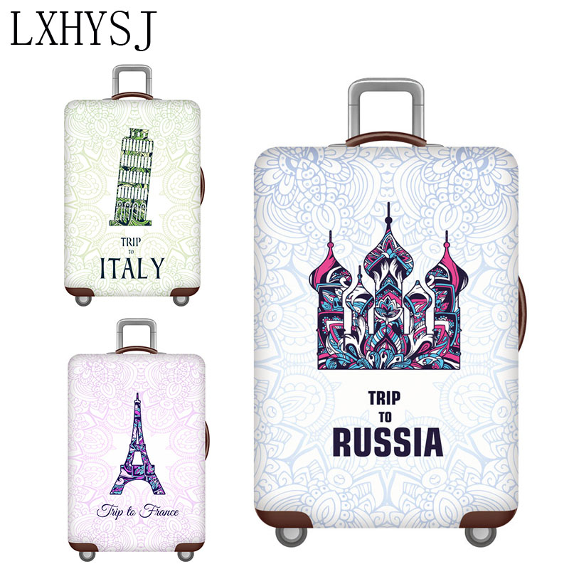 Elasticity Luggage Cover Suitcase Cover Thicken Elastic Fabric Luggage Protective Covers For 18-32 Inch Travel Suitcase Case