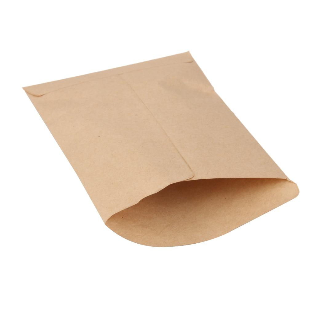 100 Pieces Vintage Hybrid Seed Envelopes Blank Kraft Paper Brown Seed Bags Seeds Corn Farm Bag