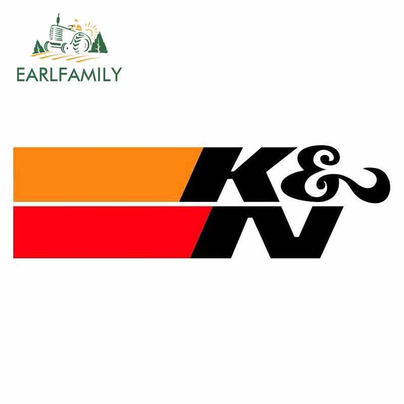 EARLFAMILY  13cm X 3.9cm For K & N Suitable For VAN Car Stickers And Decals Occlusion Scratch Graffiti Sticker VAN Decoration