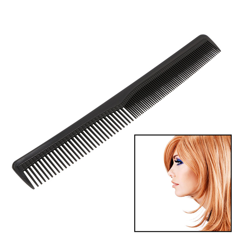Professional Salon Anti-static Hairdressing Hair Cutting Plastic Comb Tool Black