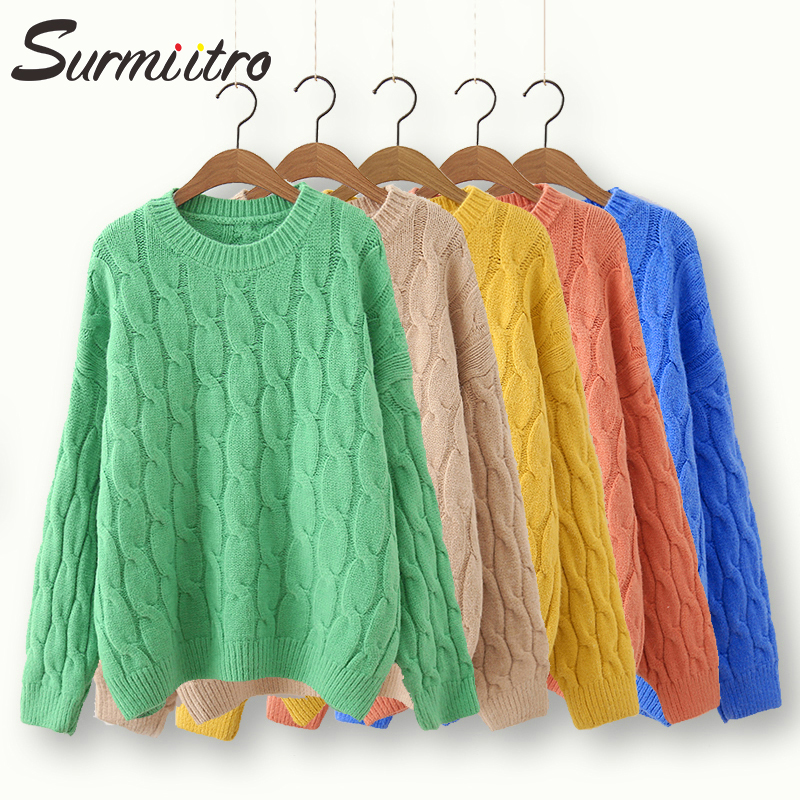 Surmiitro Casual Korean Knitted Winter Sweater Women 2019 Autumn Ladies Long Sleeve Tricot Jumper And Pullover Female Jersey