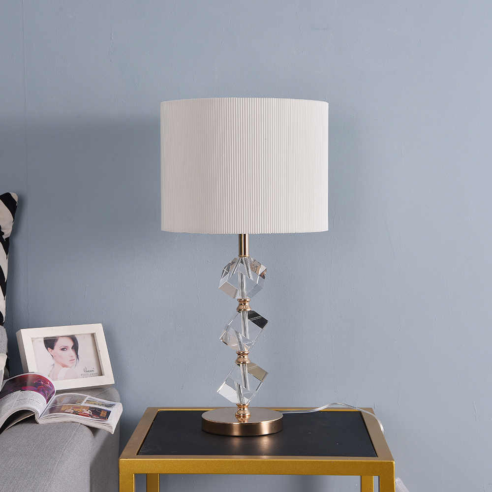 K9 크리스탈 스톤 테이블 램프 거실에 대 한 침실에 대 한 명확한 크리스탈 침대 옆 테이블 램프 높은 학년 머리맡 램프 밤 빛