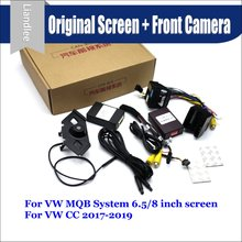 цены For Volkswagen VW CC 2017-2019 Car Front View camera System CANBUS Connect Original Factory Screen Monitor AUTO CAM Decoder