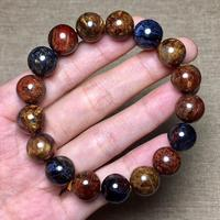 Genuine 12mm Natural Pietersite Yellow Red Blue Gemstone Round Beads Stretch Healing Bracelet From Namibia AAAAA Drop Shipping