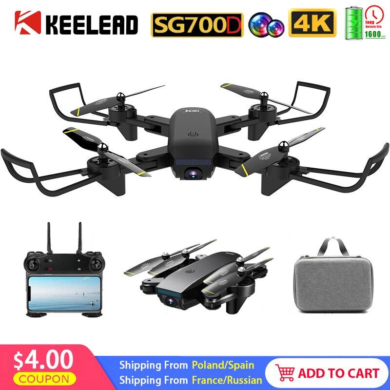 Zangão de câmera grande angular wifi 1080p câmera dupla rc quadrocopter dobrável dron vs m69g sg700d zangão professional zoom controle 4k