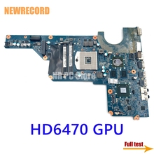 Laptop Main-Board Pavilion G4 DA0R13MB6E0 636375-001 NEWRECORD HM65 for HP G6 G7 DDR3