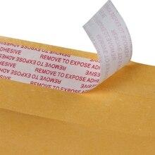 10 шт. Крафт пузырь почтовые программы желтый с подкладкой почтовые отправления пакеты бумага доставка конверты T8DB