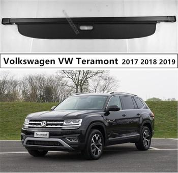 For Volkswagen VW Teramont Atlas 2017 2018 2019 Rear Trunk Security Shield Cargo Cover High Qualit Auto Accessories Black Beige