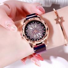 New Brand Luxury Quartz Women Flower Watch Womens Clock Top Female WristWatches Waterproof Ladies Dress Relogio Feminino