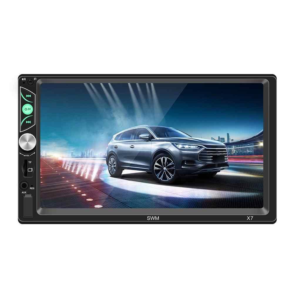 2 DIN Android samochodowe Multimedia odtwarzacz ekran dotykowy Stereo Bluetooth odtwarzacz MP5 odtwarzacz multimedialny kamera tylna
