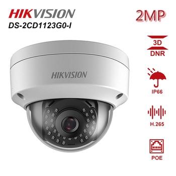 цена на Hikvision Original 2MP CCTV IP Camera 1080P DS-2CD1123G0-I 2 Megapixel CMOS Night version Security PoE Dome Camera Outdoor