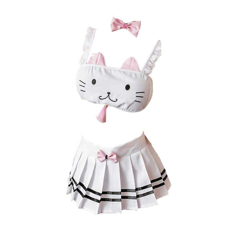 Bonito lolita underwear dos desenhos animados cosplay trajes lenceria sexy japonês kawaii lingerie feminino anime lingerie sutiã & calcinha biquíni