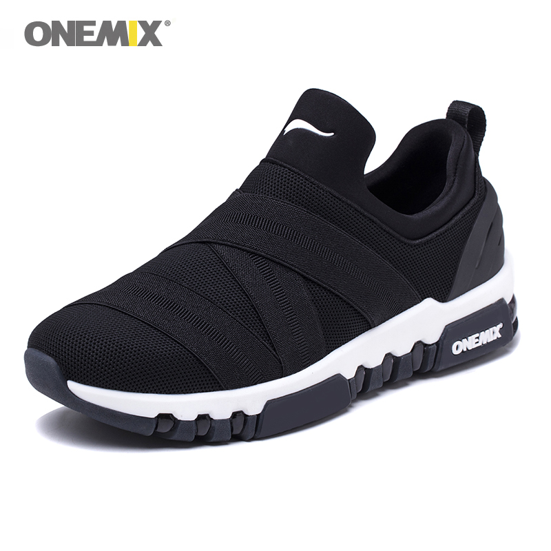 ONEMIX Men Running Shoes For Women Nice Zapatillas Athletic Sneakers Jogging Air Cushion Trekking Shoes Mesh Light Walking Shoes
