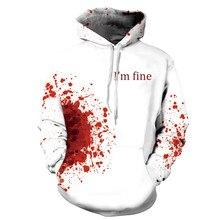 3D Print Wound Horror Blood Hoodies Sweatshirts Women Men I'