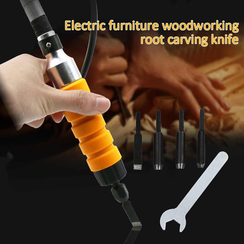 Herramienta de tallado de cincel el/éctrico MXECO M/áquina de tallado de madera Herramientas de carpinter/ía Muebles de grabado Cig/üe/ñal flexible Llave peque/ña